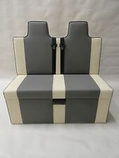 ROCK AND ROLL BED HEADREST 3/4 T4 T5 VIVARO STEEL & CREAM PROFESSIONALLY TRIMMED