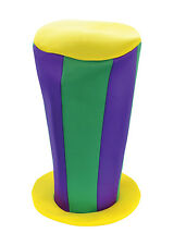 Purple Green Yellow Hat Circus Clown Halloween Fancy Dress Mad Hatter Accessory