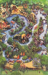 Disneyland Jungle Cruise Attraction Map Poster Print 11x17 Disney