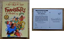 Carte postale flyer programme des Francofolies de 1998, collector