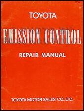 1971 Toyota Emisión Manual Reparación Camioneta Land Cruiser Celica Corola Mark