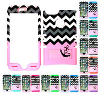 For Apple iPhone 7 KoolKase Hybrid Silicone Cover Case - Chevron Anchor 01