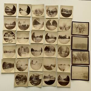 RESERVED Antique Cabinet Card Round Square Kodak Photograph Lot of 34