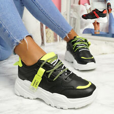 WOMENS LADIES CHUNKY SOLE PARTY SNEAKERS WOMEN HEEL TRAINERS SHOES SIZE