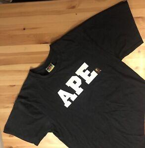 A Bathing Ape (Bape) Spellout Shirt Black - Rare