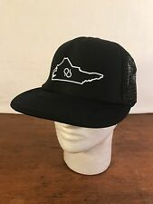 Men's Black Polyester Misprint Upside Down NC Foam Mesh Snapback Trucker Cap CH7