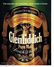PUBLICITE ADVERTISING 116  1989  Glenfiddich   whisky old reserve