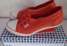 even & ODD  Keilsneaker  Keilabsatz-Sneaker in Turnschuhstyle Orange Gr.37 NEU