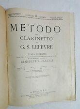 Metodo per Clarinetto di G. S. Lefèvre - Terza Edizione - Parte I
