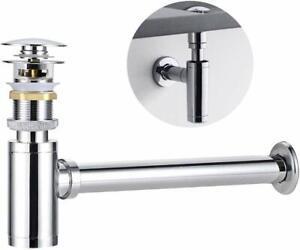Universal Bottle P-Trap Brass Chrome Waste Trap Bathroom Adjustable Drain Tube