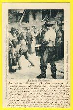 cpa Rare de 1901 TABLEAU Expo VANDER HAEGHEN La Vente de Poissons BLANKENBERGE