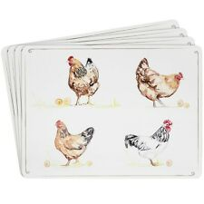 Lesser & Pavey Country Life Farm Chickens Set Of 4 x Placemats
