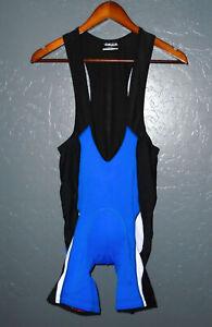 CAMPAGNOLO Cycling Bib Shorts PADDED Black/Blue Bike Bicycle Mens : MEDIUM Md