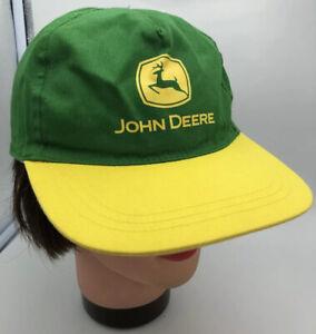 RARE John Deere Licenced Product 2005 Green Electric Yellow Snapback Cap Hat
