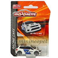 MAJORETTE 4009MJ3 RACING CARS VW VOLKSWAGEN POLO R WRC 1/57 - 1/64 CAR WHITE