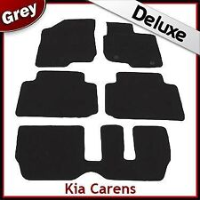 Kia Carens Auto (2007 2008 2009 2010 2011) Tailored LUXURY 1300g Car Mats GREY