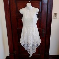Minkpink Sleeveless Lace Lined Mini Dress With Short Train XSmall Adorable Nwt
