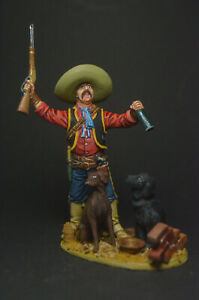 Tin soldier figure Mexican revolutionary with dogs 54 mm
