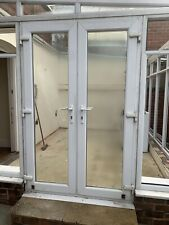 White uPVC FRENCH DOORS. Second hand. Good condition. Ready to install