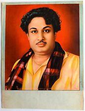 "India vintage poster MGR Tamil Cinema 13.5""x18"""