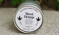 Blood Orange All Natural Hemp Oil Lotion Candle, Soy Candle, 100mg Hemp
