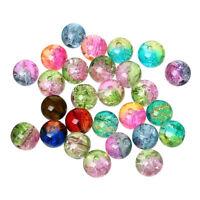 500 Stück Glasperlen Bunt Gemischt 8 mm Schmuck Basteln Perlen Mix Glas Diy