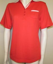 LADIES POLO SHIRT SIZE 10-12 (SMALL) RED BY MUDFLOWER NEW WITH TAGS
