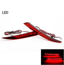 2x For Ford Fusion 2013-15 Car Tail Light Red lens LED Rear Warn Fog Lamp Reflec