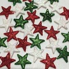 Edible Suger Stars  Christmas ,wedding   Cake,Cup Cake Toppers xWith Glitter 30