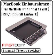 HDD/SSD Adapter Einbaurahmen IDE zu SATA MacBook Pro Non-Unibody 13 15 17 Zoll