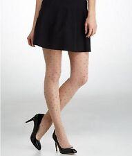 Hanes Reflections Pantyhose Sz EF Nude Black Diamond Dot Fashion Tights 0B927
