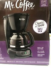 Mr. Coffee Simple Brew Switch Coffee Maker, 4-Cup Black (TFS Series)