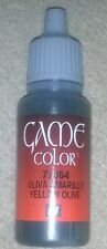 Vallejo Paint Game Color Yellow Olive 72064 Eye Dropper Bottle 17ml