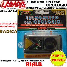 TERMOMETRO CON OROLOGIO Biadesivo con inserto tipo RADICA art 7271.2 72712 LAMPA