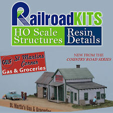 St. Martin's Corner Gas & Groceries HO scale Craftsman Kit NEW Railroad Kits