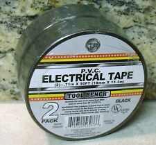 2 Roll Pack BLACK PVC ELECTRICAL TAPE