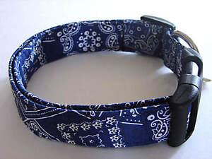 Charming Blue Bandana Standard Dog Collar