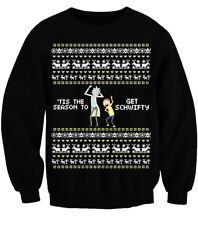 RICK AND MORTY TIS THE SEASON TO GET SCHWIFTY XMAS JUMPER UGLY CHRISTMAS SWEATER