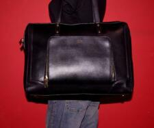 TUTILO  Black VEGAN Leather Large Satchel Carryall Work Tote Laptop Purse Bag