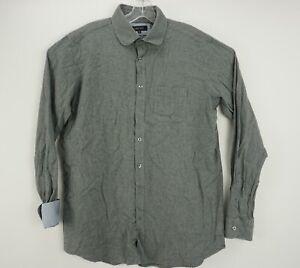 Walker Slater Men's XL Long Sleeve Gray Cotton Modern Casual Button Up Shirt