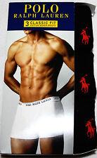 3 PACK Polo Ralph Lauren Boxer Briefs BLACK size S M L XL Underwear
