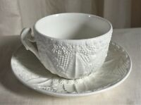 Tiffany & Co Este Ceramiche Vintage sunflower teacup set. White embossed design.