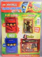Lego Ninjago Serie 2 / Extra-Pack / Goldkarte Echo Zane + 2 Bosster + 60 Hüllen
