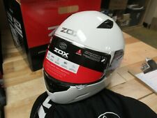 ZOX MOTORCYCLE MOTOCROSS ATV SNOWMOBILE SCOOTER HELMET - FULLFACE GALAXY LAR WHT