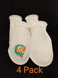 "Four (4) 4"" Filter Socks 4""x10"" Felt 100 Micron sock Aquarium Reef Wet Dry Sump"