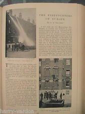 Firefighters Firemen Europe Fire Engine Brigade Rare Antique 1900 Photo Article