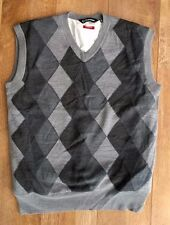 Sunice Mens Golf Pro Sport Lined Sleeveless Merino Wool Windstopper Large Grey