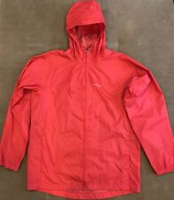 Lands' End Red Kids Rain Jacket With Hood Size Large (14-16)
