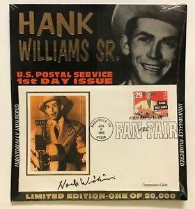 "1993 HANK WILLIAMS SR. ""1ST DAY ISSUE COMMEMORATIVE CACHET"" NASHVILLE FAN FAIR"