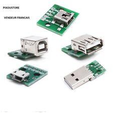 Module USB de Type A ou B micro, mini, mâle, femelle à souder, arduino